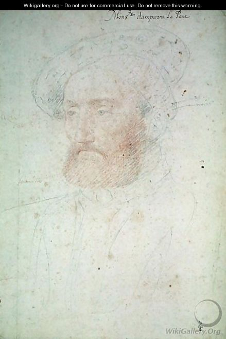 Jacques de Clermont (1480-1550) Baron de Dampierre, c.1535 - (studio of) Clouet