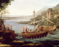 Landscape with the arrival of Aeneas at Pallanteum (detail) - Claude Lorrain (Gellee)