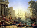 Seaport with the Embarkation of St. Ursula - Claude Lorrain (Gellee)