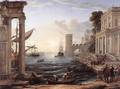 Seaport with the Embarkation of the Queen of Sheba, 1648 - Claude Lorrain (Gellee)