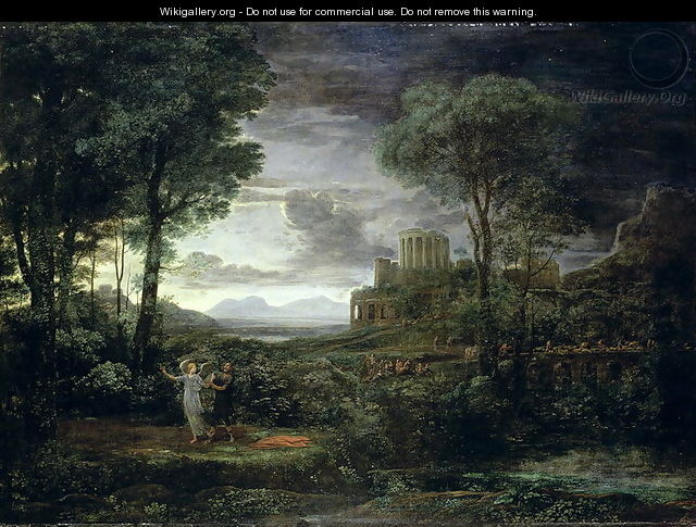 Landscape with Jacob Wrestling with the Angel, or Night, 1672 - Claude Lorrain (Gellee)