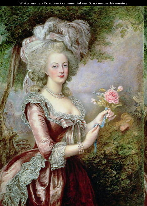 Marie Antoinette (1755-93) after Vigee-Lebrun - Louise Campbell Clay