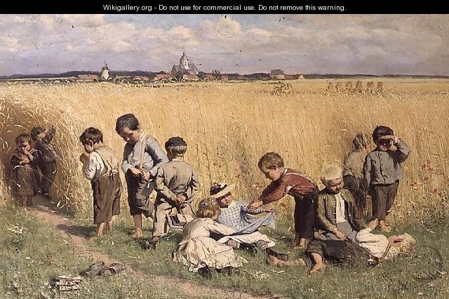 The Route to School - Emile Claus
