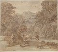 Landscape with Mercury and Apollo as a Shepherd, 1673 - Claude Lorrain (Gellee)