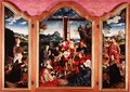 Triptych: Deposition from the Cross; St. John the Baptist; St. Margaret of Antioch, c.1528 - Joos Van Cleve (Beke)