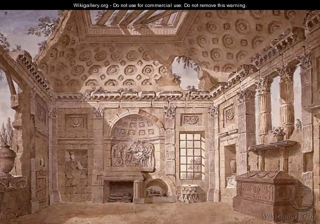 Design for Ruin Room of the monastery (now convent) of St. Trinita del Monte, Rome, c.1766 - Charles-Louis Clerisseau