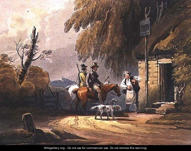 Sportsmen refreshing, pub. by J.Hassell, 1812 - Luke Clennell
