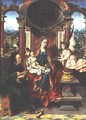 The Holy Family, centre panel of a triptych, c.1530 - Joos Van Cleve (Beke)