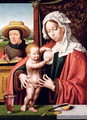 The Holy Family, c.1520 - Joos Van Cleve (Beke)
