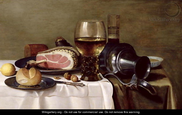Still Life with Ham (2) - Pieter Claesz.