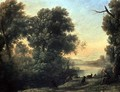 River landscape with Goatherd Piping - Claude Lorrain (Gellee)
