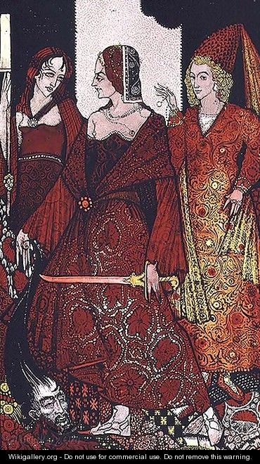 """Queens who cut the hogs of Glanna..."" - Harry Clarke"