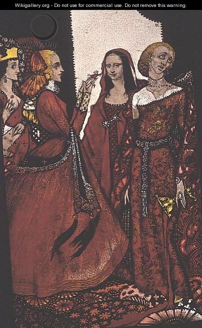 """Queens whose finger once did stir men"" - Harry Clarke"
