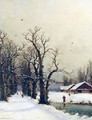Winter scene - Nils Hans Christiansen