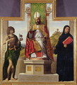 St. Lanfranc of Pavia enthroned between St. John the Baptist and St. Liberius, c.1515-16 - Giovanni Battista Cima da Conegliano