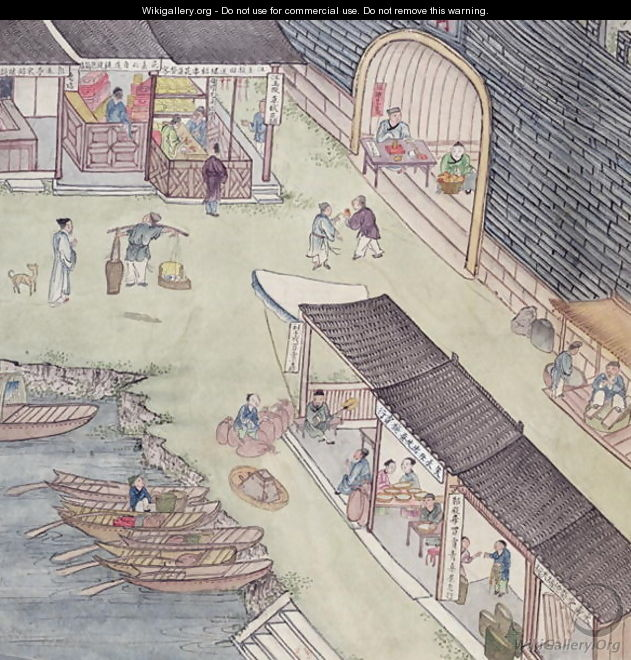 View of a Market in China (2) - Anonymous Artist