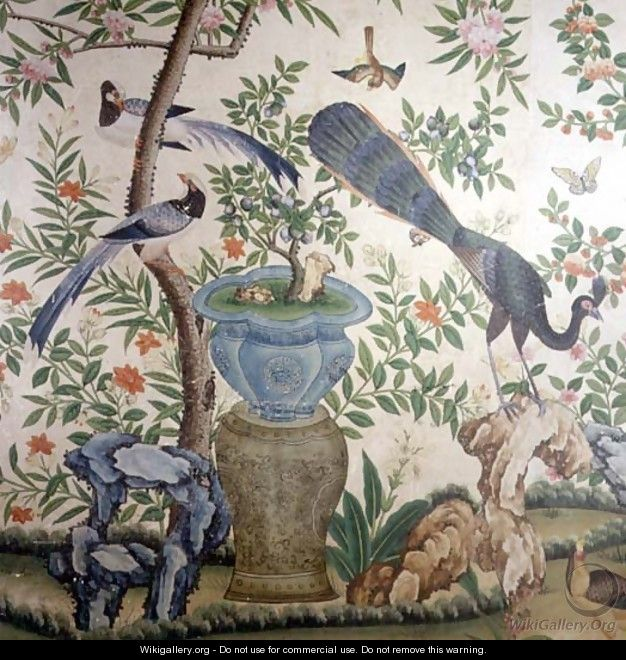 Bird Wallpaper, c.1840 (2) - Anonymous Artist