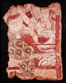 Fragment depicting a Buddhist paradise, from Duldur-Aqur, Xinjiang, c.700 AD - Anonymous Artist