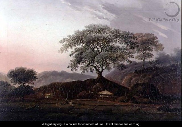 A Sentinel Tree Overlooking Farmland - (circle of) Chinnery, George (1774-1852)