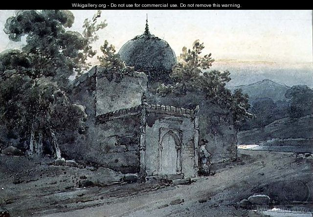 A Tomb or Part of a Temple - George Chinnery