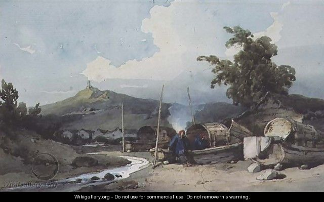 Boat Dwellings, Macao, China - George Chinnery