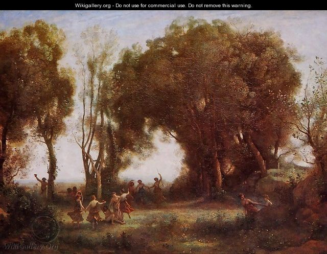 Morning - Dance of the Nymphs - Jean-Baptiste-Camille Corot