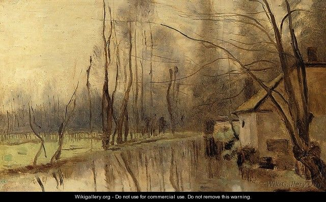 Voisinlieu, House by the Water - Jean-Baptiste-Camille Corot