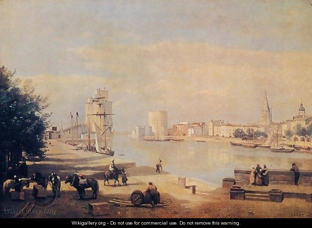 The Port of La Rochelle - Jean-Baptiste-Camille Corot