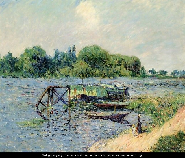 Laundry on the Seine at Herblay - Gustave Loiseau