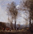 Ville d'Avray, Cowherd in a Clearing near a Pond - Jean-Baptiste-Camille Corot