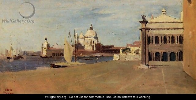 Venice, the Grand Canal, View from the Esclavons Quay - Jean-Baptiste-Camille Corot