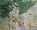 Young Woman Sewing in the Garden - Berthe Morisot