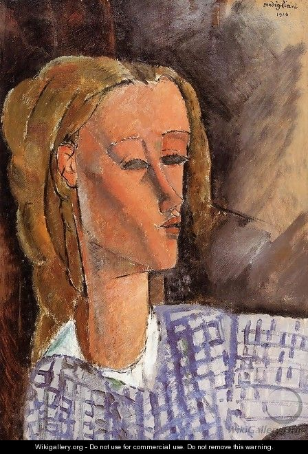 Portrait of Beatrice Hastings IV - Amedeo Modigliani