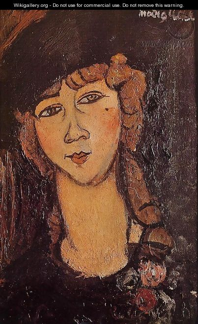 Head of a Woman in a Hat - Amedeo Modigliani