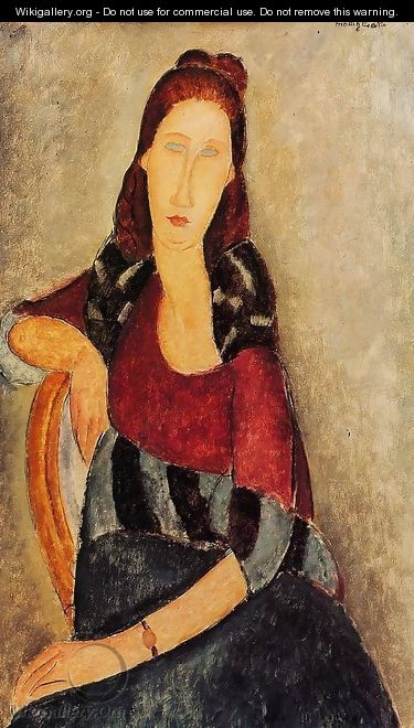 Portrait of Jeanne Hebuterne III 2 - Amedeo Modigliani