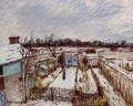 The Garden under the Snow - Alfred Sisley