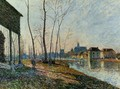 A February Morning at Moret-sur-Loing - Alfred Sisley
