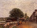 Construction Site at Saint-Mammes - Alfred Sisley
