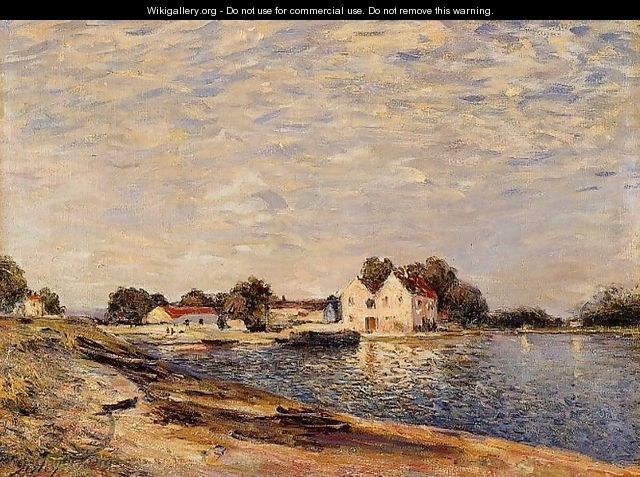 Saint-Mammes, on the Banks of the Loing - Alfred Sisley