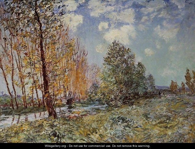 By the River - Alfred Sisley