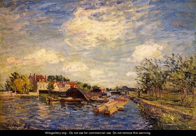 By the Loing - Alfred Sisley