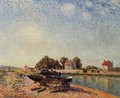The Loing at Saint-Mammes II - Alfred Sisley