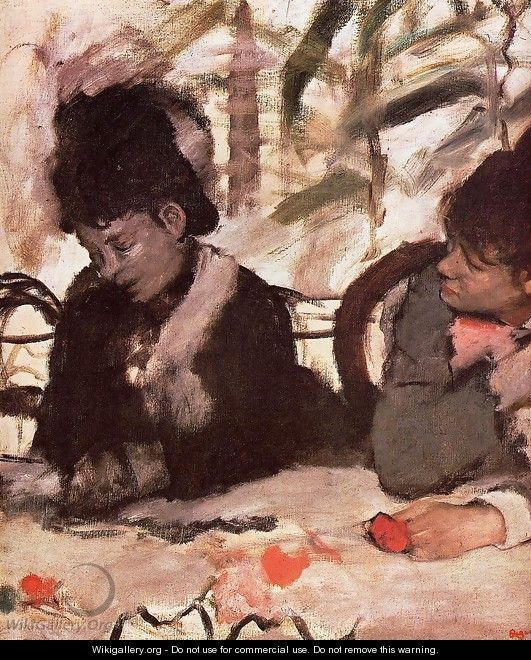 At the Cafe - Edgar Degas