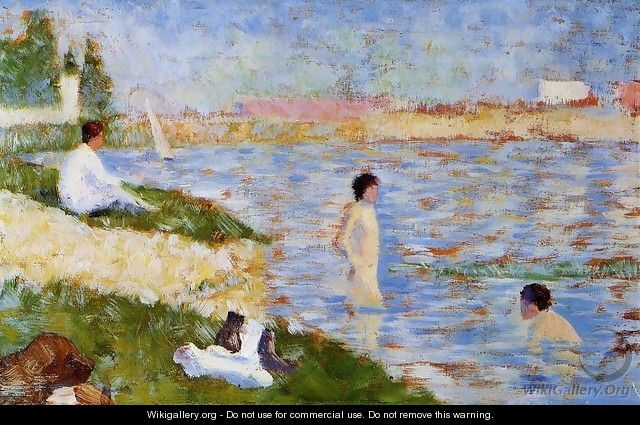 Bathers in the Water - Georges Seurat
