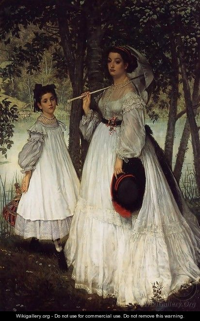 The Two Sisters; Portrait - James Jacques Joseph Tissot