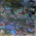 Water-Lilies, Reflections of Weeping Willows (right half) - Claude Oscar Monet