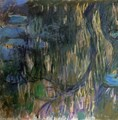 Water-Lilies, Reflections of Weeping Willows (left half) - Claude Oscar Monet