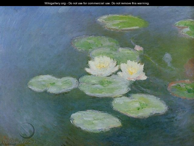 Water-Lilies, Evening Effect - Claude Oscar Monet