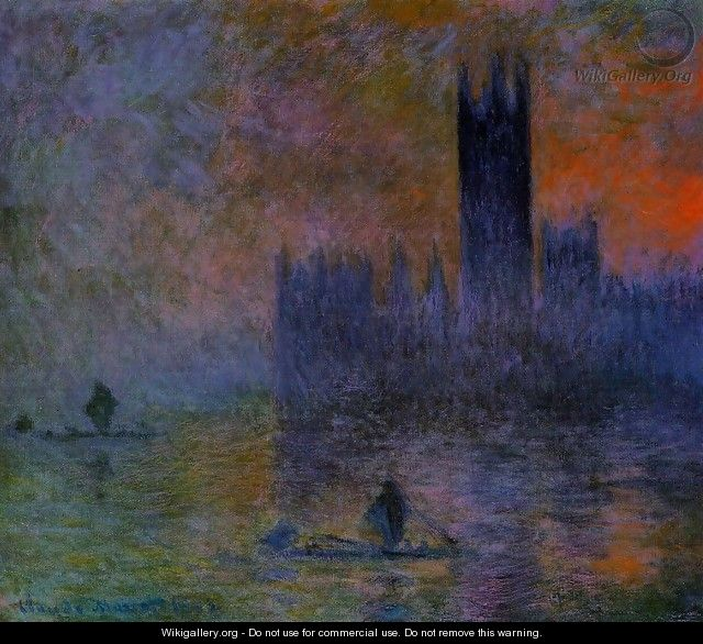 Houses of Parliament, Fog Effect - Claude Oscar Monet