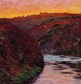 Valley of the Creuse, Sunset I - Claude Oscar Monet